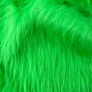 Fausse fourrure au mètre Fausse fourrure citron vert à poil long – AC356-Lime