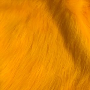 Fausse fourrure au mètre Fausse fourrure jaune or à poil long – AC356-M-Gold