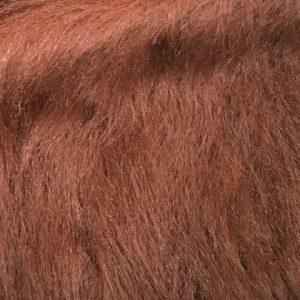 Fausse fourrure au mètre Fausse fourrure brun malt à poil long – AC356-Malt