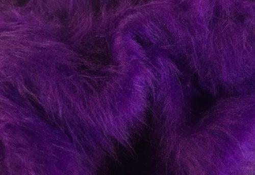 Fausse fourrure au mètre Fausse fourrure violette à poil long – AC356-R-Purple