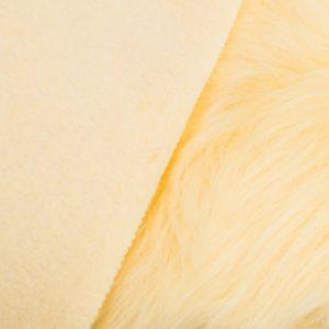 Fausse fourrure au mètre Fausse fourrure caramel crème à poil long – AC356-Toffee