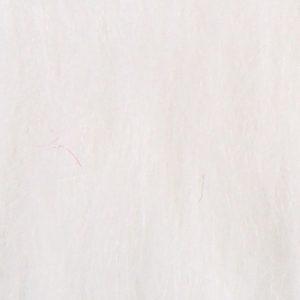 Fausse fourrure au mètre Fausse fourrure blanche à poil long – AC356-White