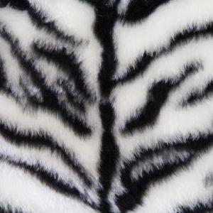 Fausse fourrure au mètre Fausse fourrure tigre noir et blanc pour déguisement – R2/60/2 FG791/5 Tiger