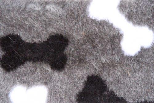 Fausse fourrure au mètre Fausse fourrure grise motif os – R2/60/3 /8mm /LP YF 1150/1 Bones