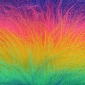 Fausse fourrure au mètre Fausse fourrure arc-en-ciel pour déguisement – YF 59/4 1084/1