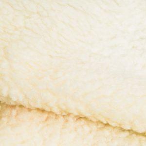 Fausse fourrure au mètre Tissu fausse fourrure beige façon mouton pour doublure – K7/SF-LT CREME HA 1320
