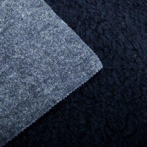 Fausse fourrure au mètre Tissu fausse fourrure bleu nuit façon mouton pour doublure – K7/SF-MIDNIGHT BLUE HA 3805