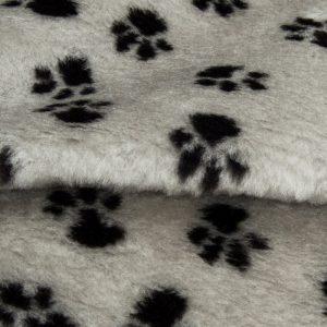 Fausse fourrure au mètre Fausse fourrure grise motif pattes – R2/60/2 /10mm /UP FG637/1