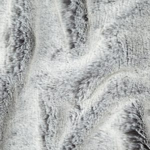 Fausse fourrure de luxe Tissu fausse fourrure super doux gris/blanc – 1551 Grey White