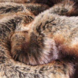 Fausse fourrure de luxe Tissu fausse fourrure super doux chinchilla or / brun – 3011 Brown Gold