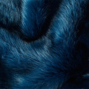 Fausse fourrure de luxe Fausse fourrure de luxe bleu pétrole super douce – 3080 Blue
