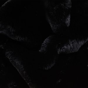 Fausse fourrure de luxe Tissu fausse fourrure super doux noir – 3105 Black/Black