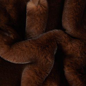 Fausse fourrure de luxe Tissu fausse fourrure super doux brun foncé – 3105 Brown/Dk.Brown
