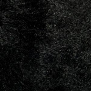 Fausse fourrure au mètre Fausse fourrure noire agneau de Mongolie super douce – 1591 Mongolian Black