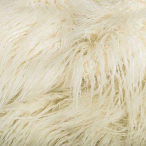 Fausse fourrure de luxe Fausse fourrure crème agneau de Mongolie super douce – 1591 Mongolian crème