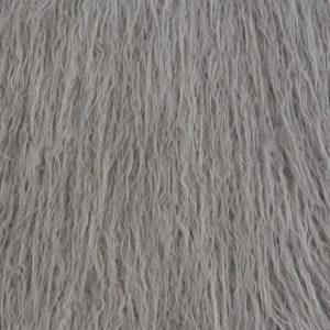 Fausse fourrure de luxe Fausse fourrure gris argent agneau de Mongolie super douce – 1591 Mongolian gris argent