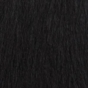Fausse fourrure de luxe Fausse fourrure noire agneau de Mongolie super douce – 1591 Mongolian Black