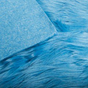 Fausse fourrure au mètre Tissu fausse fourrure bleu à poil long façon yéti – 1568 Matiss Blue