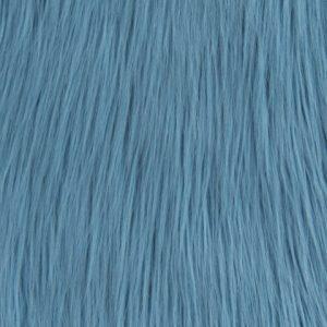 Fausse fourrure de luxe Tissu fausse fourrure bleu à poil long façon yéti – 1568 Matiss Blue