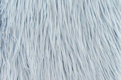 Fausse fourrure de luxe Tissu fausse fourrure bleu poudré à poil long façon yéti – 1521 Powder Blue