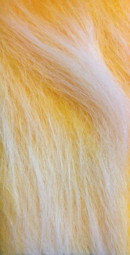 Fausse fourrure au mètre Fausse fourrure jaune or givré à poil long – AC356-M Gold Frost