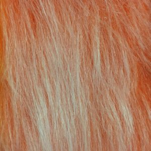 Fausse fourrure au mètre Fausse fourrure orange foncé givré à poil long – AC356-Burned Orange Frost
