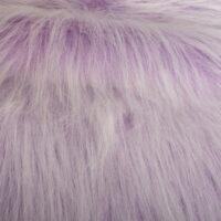 Fausse fourrure au mètre Fausse fourrure violet givré à poil long – AC356-Heliotrope Frost