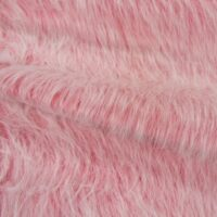 Fausse fourrure au mètre Fausse fourrure rose barbie givré à poil long – AC356-Barbie Pink Frost