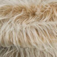 Fausse fourrure au mètre Fausse fourrure camel givré à poil long – AC356-Camel Frost