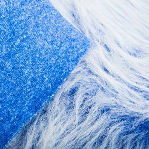 Fausse fourrure au mètre Fausse fourrure bleu cobalt givré à poil long – AC356-Cobalt Frost