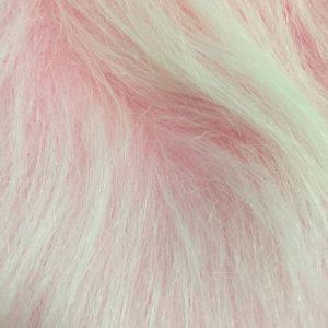 Fausse fourrure au mètre Fausse fourrure rose givré à poil long – AC356-Blossom Frost