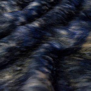Fausse fourrure au mètre Tissu fausse fourrure multicolore bleu et gris – 1597 Blue-Grey