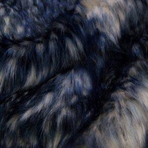 Fausse fourrure de luxe Tissu fausse fourrure multicolore bleu et gris – 1597 Blue-Grey