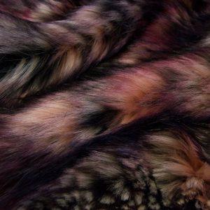 Fausse fourrure de luxe Tissu fausse fourrure multicolore nuances de rouge – 1597 Harvest Wine