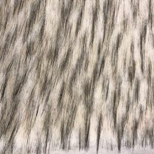 Fausse fourrure de luxe Tissu fausse fourrure imitation raton-laveur canadien, noir et blanc – 1536 White Black