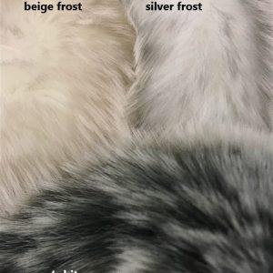 Fausse fourrure de luxe Tissu fausse fourrure super doux blanc/gris – 1551 Silver Frost