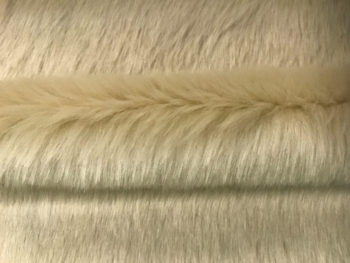 Fausse fourrure au mètre Tissu fausse fourrure beige super rapport qualité prix – YF 286/1 Beige 0906