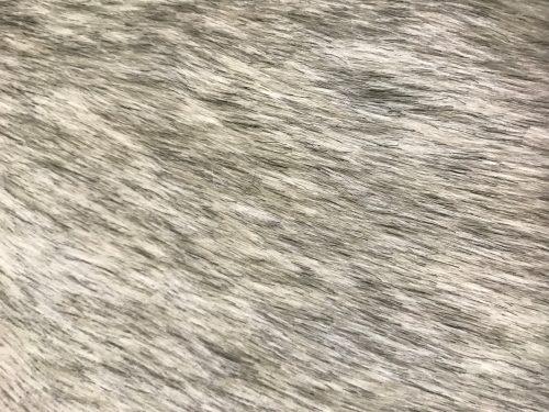 Fausse fourrure au mètre Tissu fausse fourrure blanc-gris chiné super rapport qualité prix – YF 286/1 White/Grey