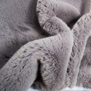 Fausse fourrure de luxe Fausse fourrure grise super douce façon lapin – Saluki 2R333 Grey