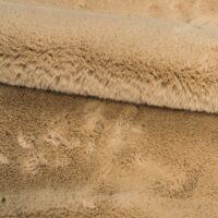 Fausse fourrure au mètre Fausse fourrure beige pâle super douce façon lapin – Saluki 2R333 Pale Beige