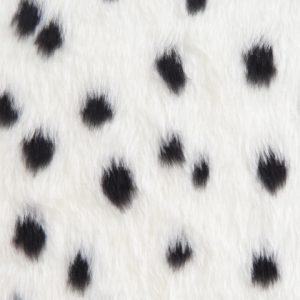 Fausse fourrure au mètre Fausse fourrure dalmatien pour déguisement – R2/60/2 FG 1/1 Dalmatier 101/1