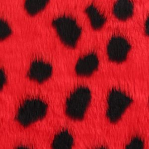 Fausse fourrure au mètre Fausse fourrure coccinelle pour déguisement – Ladybird R2/60/2 800/9 107/1