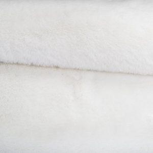 Fausse fourrure de luxe Fausse fourrure blanche super douce façon lapin – Saluki 2R333 S. White
