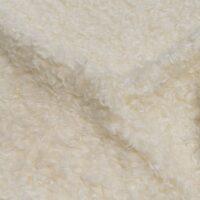 Fausse fourrure au mètre Tissu fausse fourrure bouclé pas cher, couleur ivoire – AC530 Ivory