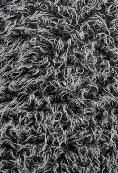 Fausse fourrure au mètre Tissu fausse fourrure bouclé pas cher, couleur noir givré – AC530 new black frost