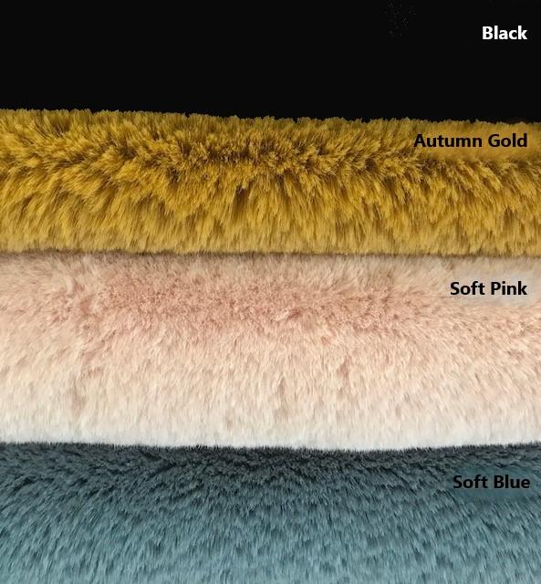 Prix en baisse Fausse fourrure jaune moutarde super douce façon lapin – Saluki 2R333 Autumn Gold