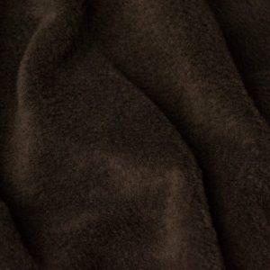 Fausse fourrure au mètre Tissu polaire uni brun chocolat, anti-pilling – Chocolate