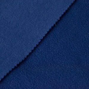 Fausse fourrure au mètre Tissu polaire uni bleu denim, anti-pilling – Denim