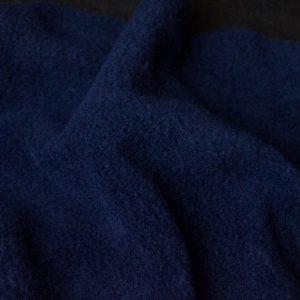Fausse fourrure au mètre Tissu polaire uni bleu marine, anti-pilling – Navy
