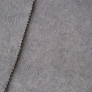 Fausse fourrure au mètre Tissu polaire uni gris chiné, anti-pilling – Silver-Grey-Melange